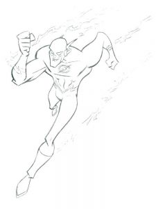 flash dc coloring pages free