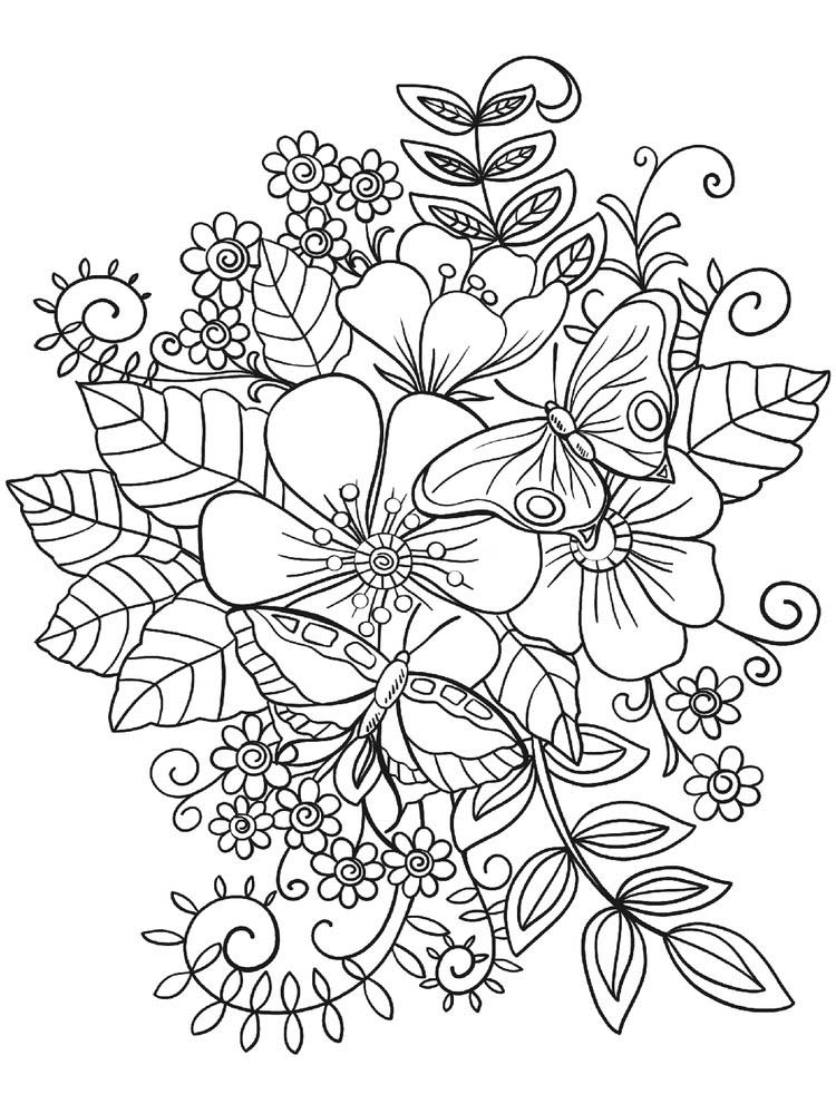 flower coloring pages mandala