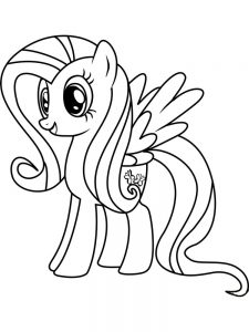 fluttershy coloring pages free