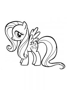 fluttershy coloring pages image