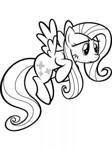 fluttershy coloring pages print