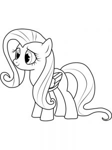 fluttershy pony coloring page