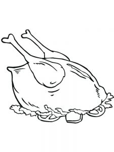 food coloring pages simple