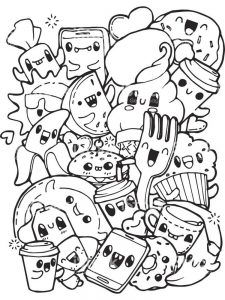 food coloring pages with faces