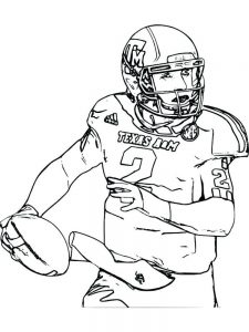 football player coloring pages free printable