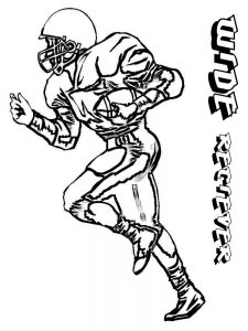 football player colouring pages