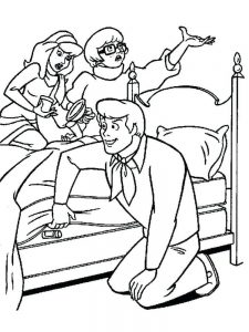 fred scooby doo coloring pages