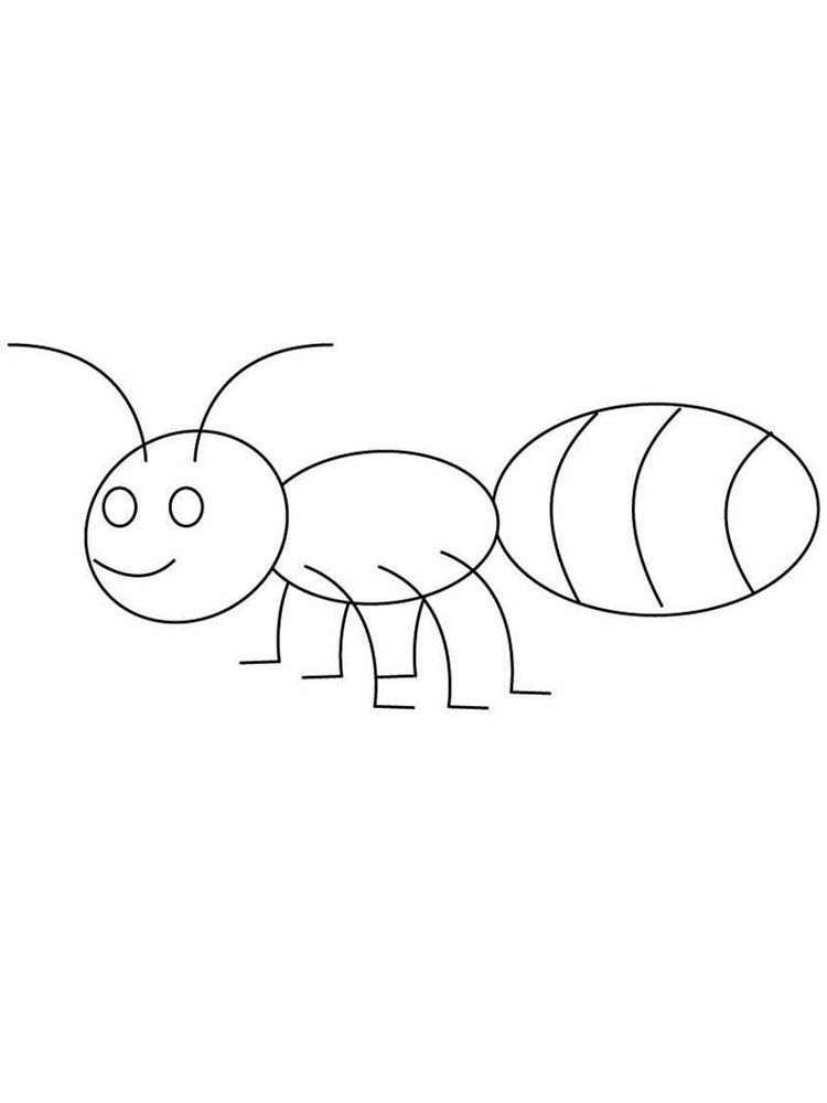 free ant coloring pages preshooler