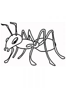 free ant coloring pages printable