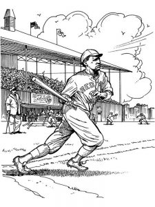 free baseball field coloring pages