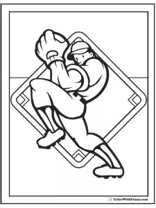 free baseball player coloring pages