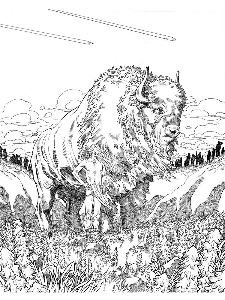 free buffalo coloring pages printable
