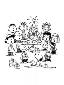 free charlie brown characters coloring pages printable