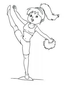 free cheerleader coloring pages printable free