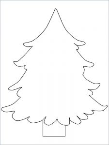 free christmas coloring pages tree