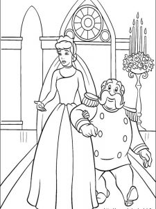 free cinderella coloring pages