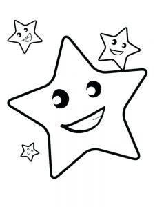 free coloring page of stars