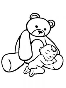 free coloring pages of baby