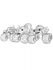 free coloring pages of blaze and the monster machines