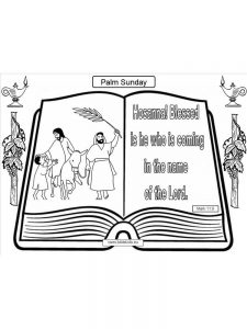 free coloring pages of palm sunday