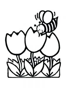 free coloring pages of spring flowers printable