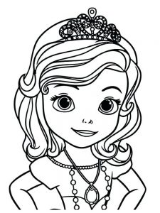 free coloring pages princess sofia free