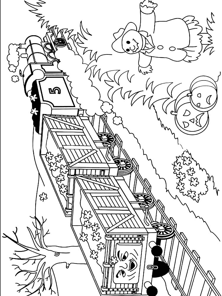 free coloring pages thomas the train