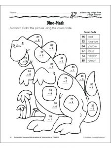 free coloring pages with addition and subtraction