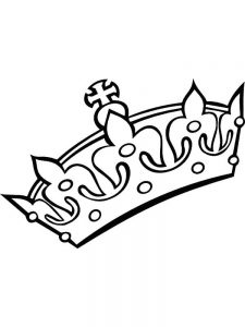 free crown coloring pages