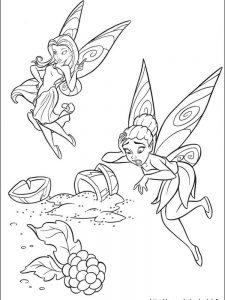 free disney tinkerbell coloring pages