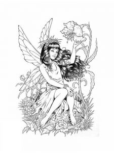 free fairy coloring pages for adults to print