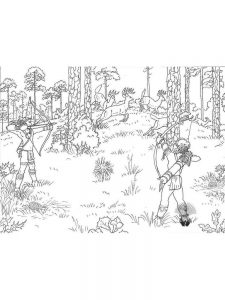 free hunting deer coloring pages