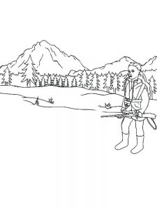 free jungle hunting coloring pages pdf