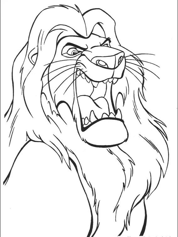 free lion king coloring pages to print