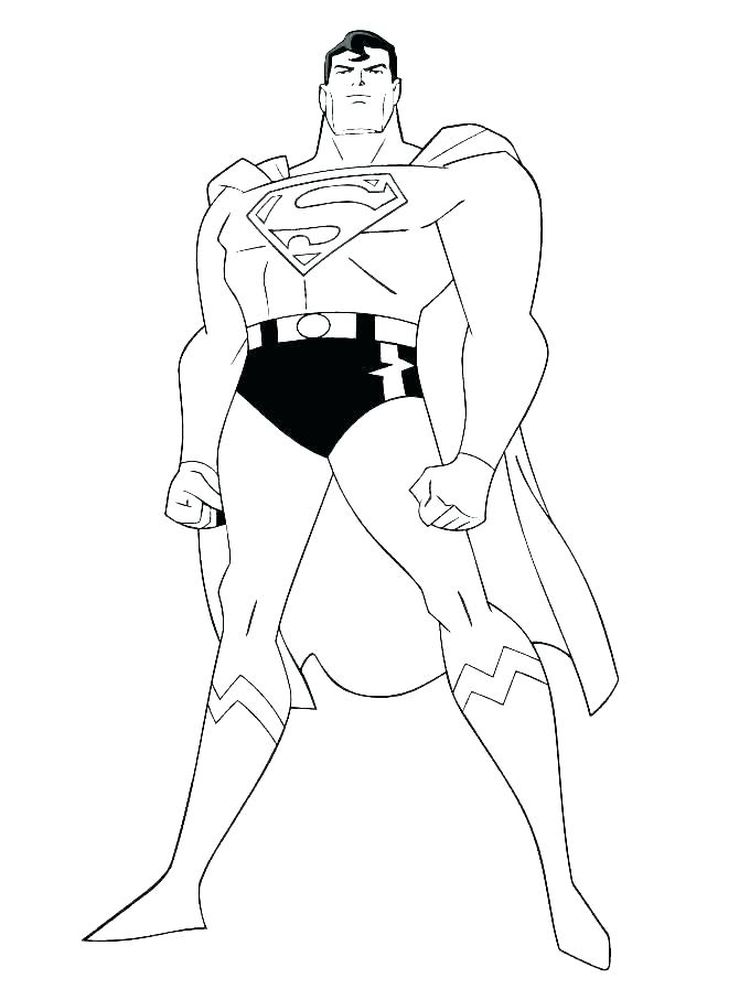 free online superman coloring pages