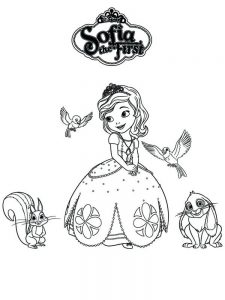 free princess sofia coloring pages print