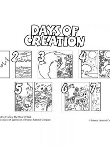 free printable 7 days of creation coloring pages