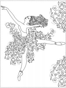 free printable angelina ballerina coloring pages