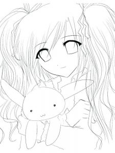 free printable anime coloring pages for adults