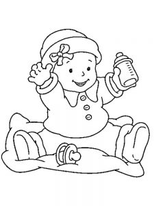 free printable baby doll coloring pages free