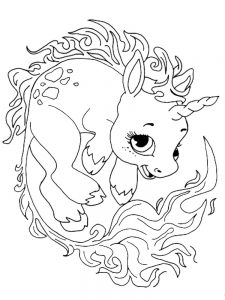 free printable baby unicorn coloring pages