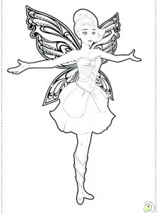 free printable barbie fairy coloring pages