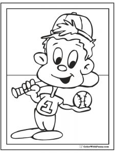 free printable baseball coloring page