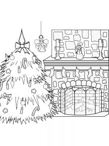 free printable christmas tree adult ornaments coloring pages