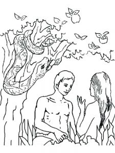 free printable coloring pages adam and eve