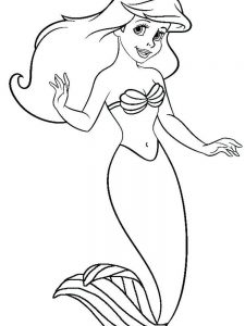 free printable coloring pages disney ariel