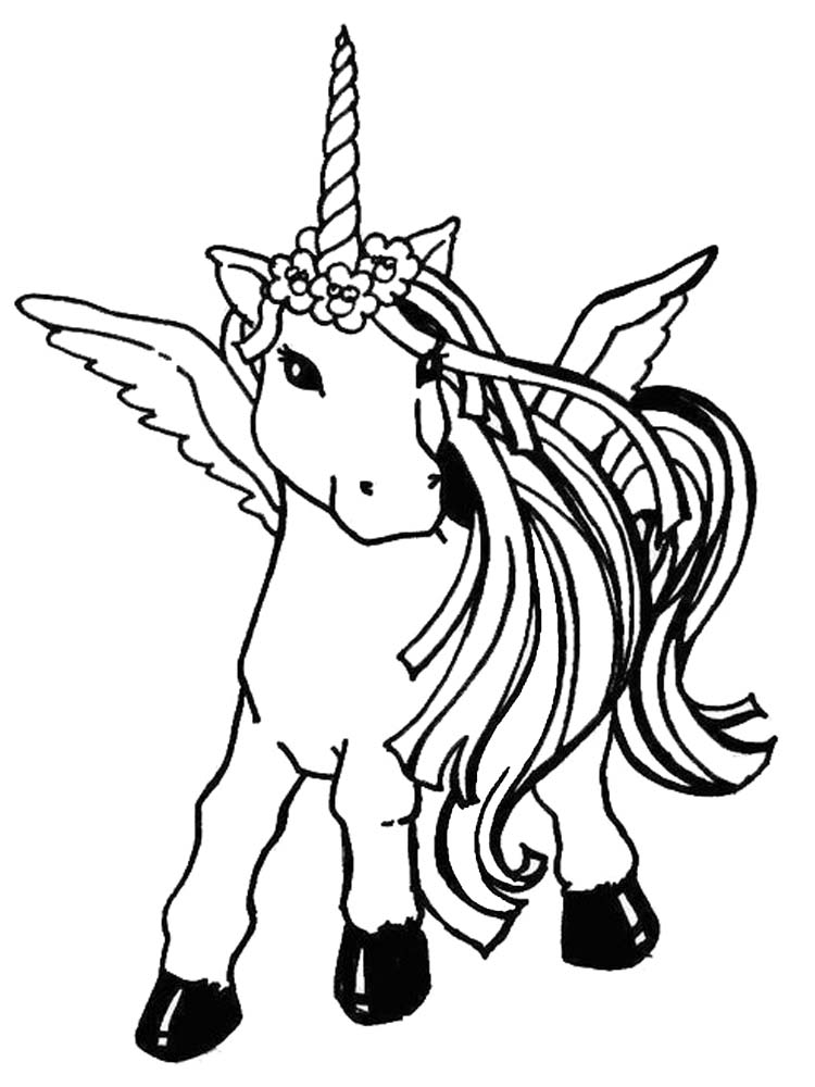 free printable coloring pages of unicorn
