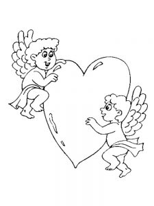 free printable cupid coloring pages