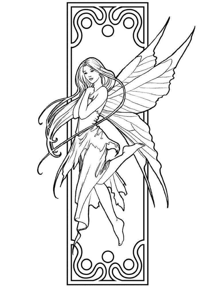 free printable disney fairy coloring pages
