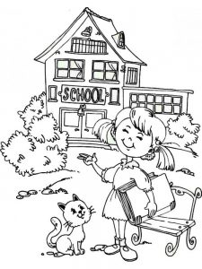 free printable first day of school coloring pages for kindergarten